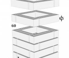 Крышка керамическая 38х38см для столба из кирпича RF60 250х60х65мм