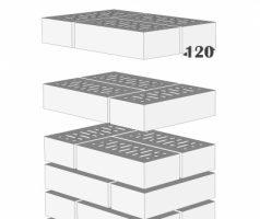 Крышка керамическая 42х32см для столба из кирпича RF 250х120х65мм