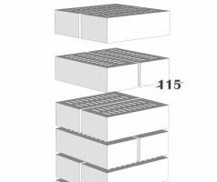 Крышка керамическая 30х30см для столба из кирпича NF 240х115х71мм