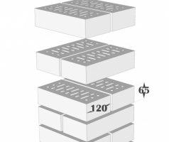 Крышка керамическая 32х32см для столба из кирпича RF 250х120х65мм