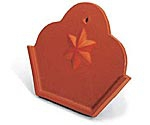 Zierfirstplatte (Kleeblatt)