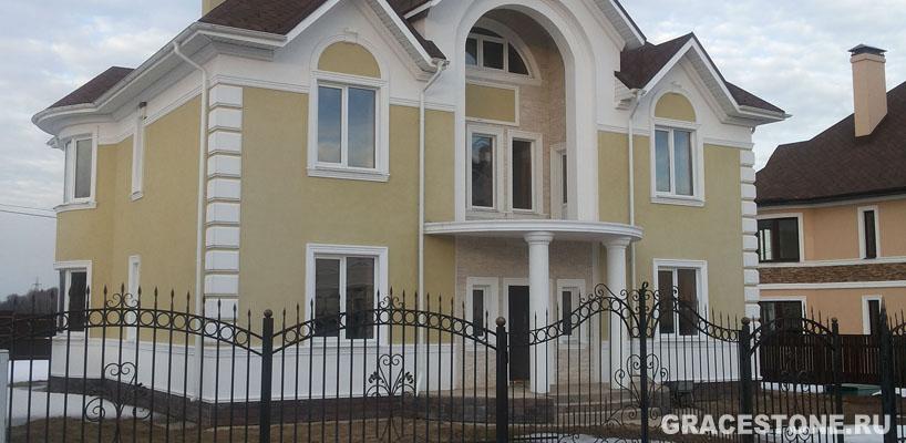 Штукатурка для отделки фасада дома