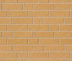 Sandgelb , genarbt - Keramikfassade