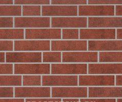 Granit , rot braun gescheckt - Keramikfassade
