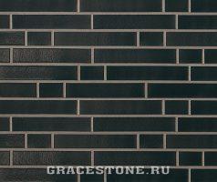 Tiefschwarz, schwarz-uni-glänzend - Keramikfassade