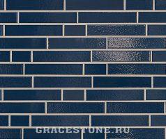Marineblau, dunkelblau-uni-glänzend - Keramikfassade