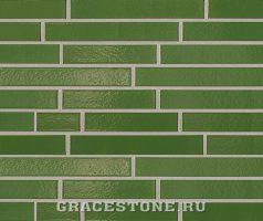 Farngrün, grün-uni-glänzend - Keramikfassade